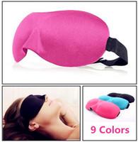 kaliteli göz yamaları toptan satış-Yüksek Kalite Seyahat Uyku Istirahat 3D Sünger Göz Gölge Uyku Göz Maskeleri Kapak Şekerleme Dinlenme Yama Blinder sağlık için