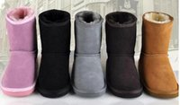 Wholesale Sheepskin Baby Boy - Hot sell New Real Australia 528 High-quality Kid Boys girls children baby warm snow boots Teenage Students Snow Winter boots Free shipping