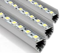 sert şerit çubuk toptan satış-10 adet SMD5050 led bar ışıkları DC 12 V 36 LEDs / 0.5 M 50 cm LED Sert Şerit Bar Araba Işık V-şekilli ile Alüminyum alaşım kabuk