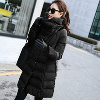 Wholesale Ladies Military Style Jackets - Wholesale-2015 Autum Winter Coat Women New Style Military Installation Jacket Lady Solid PU Spliced Color Women Long Coat QB318