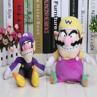 Wholesale Waluigi Plush Doll - 2016 Hot Sales Brand Super Mario Bros Plush Toy Doll Soft Stuffed Animal Wario Waluigi 30cm 12inches plush doll toys