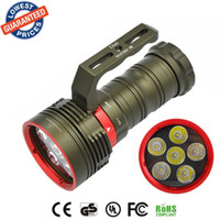 Wholesale underwater torch - DX6 Underwater 200M Diving 9000Lm Flashlight 6 x XM-L2 LED torch lanterna Waterproof Flashlight 18650