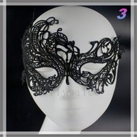 Wholesale Cheap Mardi Gras Masks - Cheap Price Half Faces Eye Masks Masquerade Masks Mardi Gras Venetian Prom Dancing Party Mask black Lace Masks With 15 Types