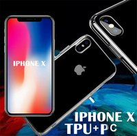 Wholesale Bumper Case Scratches Iphone - Ultra Thin Crystal Clear transparent PC Back TPU Bumper Case Scratch Resistant For iPhone X clear silicone Cover Shockproof For iPhone 10 8