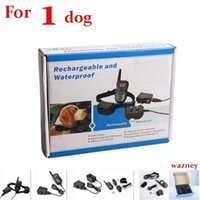 Wholesale bark collars dogs resale online - 20pcs dog M Rechargeable Waterproof Remote LV Pet Dog Training Bark Stop Collar