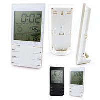 Wholesale white Indoor LCD Digital Thermometer Hygrometer Dual Sensors show Temp and Humidity with time HM402 M1