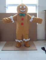 fazer mascote venda por atacado-Biscoitos do bebê Personagem de Desenhos Animados Traje mascote Produtos Personalizados feitos sob encomenda frete grátis shrek Gingerbread man food mascot Personalizado