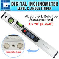 Wholesale Inclinometer Angle Finder - G0182105-JY4 Level Inclinometer Digital Angle Finder Spirit Level 4 x 90 degree (0~360 degree) range with Magnets