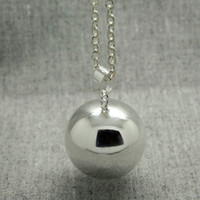 Wholesale Animal Callers - Angel caller Mexican Bola Merry shine Bola 20mm Ball Pregnancy Ball Bola Baby Caller Silver Gold Baby Pendant Necklace Statement Necklace
