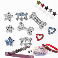 Wholesale Dog Collar Leather Paw - HOT 10mm Rhinestones Personalized Paw Pet Collar Slide Charm! DIY Dog Pet Collar Slide Charm Pet Accessory Pet Fashion Pet Jewelry 500P 525