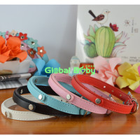 Wholesale China Dog Collars - (100 Pieces lot) Whoesale Pure Pu Leather 10MM Dog Personalized Collar Pet Cat Necklace Made in China