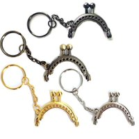10Pcs Grade Embossed Arc Metal Frame Kiss Clasp Embreagem Coins Purse Handbag Handle Part 4cm