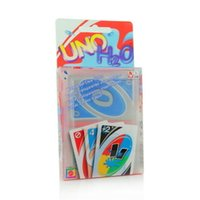 Wholesale Uno Card Game Plastic - UNO H2O Waterproof Clear Playing Card Game- Brand New Great Quality Playing Family Fun Poker Card