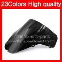 Wholesale Cbr929rr Abs - 23Colors Motorcycle Windscreen For HONDA CBR929RR 00 01 CBR900RR CBR 929 RR 900RR CBR929 RR 2000 2001 Chrome Black Clear Smoke Windshield