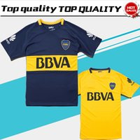 Wholesale football clubs - 2018 Boca Soccer Jersey 2017 18 Boca Junior home Soccer Jerseys 17 18 Argentina Club Football Shirts Thai Quality away yellow Jeresys