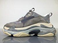 Wholesale Man S High Boots - 2018 High Quality Unveils New Triple S Sneakers Best Fashion Spec Trainers,women&men Tripe-S retro Training Sneakers Shoes size EUR 36-45