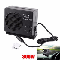 Wholesale Car Auto Vehicle Portable Ceramic - High quality150W 300W Ceramic Auto Car Truck Fan Heater Portable Window Defroster 12V Vehicle Cooling Cooler Heater Warmer Fan free shipping