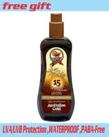 Wholesale Australian Gold Tanning - Wholesale-Australian Gold SPF 15 with Bronzers Spray Gel 237ml Outdoor Sun Protection Tanning Suntan Lotion Self Tanner And Body Bronzer