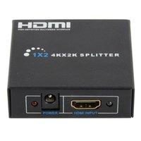 Wholesale Splitter Repeater - Full HD 1x2 Port HDMI Splitter 1 IN 2 OUT Amplifier Repeater 3D 4K x 2K F2923 W0.5 SUP5