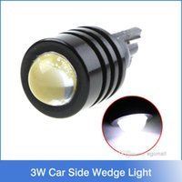 Wholesale led 194 wedge white - 3W High Power T10 W5W 194 927 161 White SMD LED Car Side Wedge Light Reading Lamp tail lights