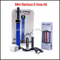 Single Black Metal E Cigarette Starbuzz Mini E hose Kits Mini Ehookah Ehose e-hose Square Handled Hookah e shisha Portable Mini e cig E hookah kits instock