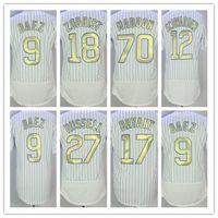 Wholesale Man Program - NWT 2016 World Champions Chicago Baseball Gold Program 9 Javier Baez 12 Kyle Schwarber 17 Kris Bryant 44 Anthony Rizzo 18 Zobrist Jerseys