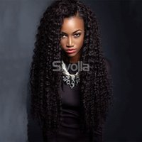 Wholesale Virgin Human Brazilian Kindky Curly Glueless Full Lace Human Hair Wigs with Baby Hair Bleach Knots for Black Lady s Beauty Life