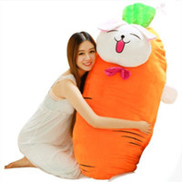 Wholesale vegetable toys - pop large soft carrot plush cartoon pillow stuffed anime vegetables carrots toy cushion baby Christmas gift 150cm