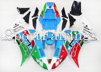 Wholesale Yzf Cowling - Injection Fairings For Yamaha YZF1000 YZF R1 02 03 2002 2003 Plastics ABS Fairings Motorcycle Fairing Kit Bodywork Cowling Blue Green 46