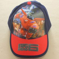 Wholesale Cheap Baseball Gifts - Wholesale Cartoon Big Hero 6 boy and girl Baseball caps Mesh hat Peaked Cap Sun hat summer hat Children Gift Cheap 1503z