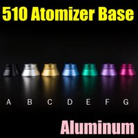 Wholesale E Cigarette Tank Base - 2015 Newest Aluminum Vaporizer Base Multicolor Metal Ecig Display Stands Tank Holder Suit for 510 E Cigarette Atomizer FJ525