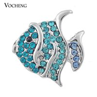 Wholesale Fishing Buttons - Vocheng NOOSA DIY Noosa Jewelry Accessory Tropical Fish Chunk Snap Button Jewelry (Vn-223)
