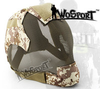 Wholesale Steel Skull Face Mask - Full face metal steel mesh protector mask Military Tactical Mask combat for airsoft paintball wargame outdoor sports 15 colors