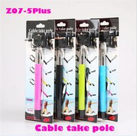 Wholesale Fiber Cables Direct - 1000pcs Monopod Selfie Stick Self Timer direct groove Wired Handheld Icanany Z07-5 plus 5plus Cable Take Pole for iphone 6 IOS Android
