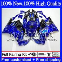 Wholesale 1994 Cbr - Bodys Motorcycle For HONDA CBR 600F2 FS Blue flames CBR600 F2 91 92 93 94 46MY6 CBR600FS 91 CBR 600 F2 CBR600F2 1991 1992 1993 1994 Fairing