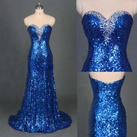 Wholesale Swarovski Mermaid Dresses - Sparkly Crystal Royal Blue Prom Dresses Mermaid Swarovski Crystal Sweetheart Off Shoulder Sweep Tain 2016 Prom Gowns