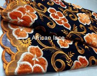 Wholesale Swiss Cotton Voile Lace - Free Shipping by DHL! Velvet Swiss Voile Lace DH9001