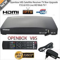 alıcı kutuları toptan satış-OPENBOX V8S Full HD 1080 P Uydu Alıcısı Freesat TV Kutusu AB-Fiş SıCAK