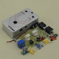Wholesale Guitar Effect Compressor - Guitar effect Compressor stomp Pedal  Guitar Effect peda&l True Bypass Guitar effect drilling aluminum box kit +Free SHIPPING