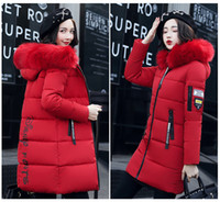 Wholesale Womens Long Goose Down Coats - Plus Size Womens Jacket Winter Coat Warm Down Jacket Slim Women's Long Parkas Winter Cotton Outwear Free Shipping