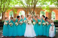 Wholesale Turquoise Bridesmaid Dresses Design - 2017 New Arrivals Turquoise Bridesmaid Dresses Special Design A Line One Shoulder Zipper Back Plus Size Maid of Honor Dresses Summer Beach