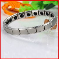 Wholesale Titanium Health Bracelet Women - Titanium Energy Magnetic 20 Germanium Energy Bracelet health function Energy power bracelets Wrist Band women men statement jewelry 160807
