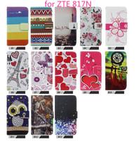 Wholesale Mobile Covers Grand - For ZTE grand X3 Z959 uhura Z818 Z819C 817N wllet case Fashion luxury flip PU leather stand mobile phone cover