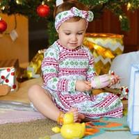 21a1e433fd7f1 2017 enfants robes conceptions enfants bébé fille d hiver à manches longues  de noël cerf impression costume robe avec bandeau