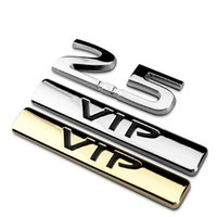 Silver 2.5 Deslocamento VIP Chrome Metal Car Tail Styling Emblem Badge Decalque de etiqueta de carro 3D Auto Decoração exterior Drop Shipping 1639