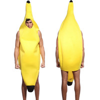 Wholesale Food Costumes Adults - Adult Men's Funny Halloween Banana Costume
