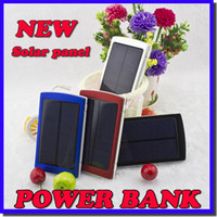 Wholesale Battery Blackberry Mah - Wholesale -New 20000 mAh Solar Battery Panel external Charger Dual 20000mah solar Charging Ports 5 colors choose for