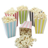 Wholesale Movie Candy Boxes - Wholesale Mini Party Paper Popcorn Boxes Candy Sanck Favor Bags Wedding Birthday Movie Party Supplies 7 Colors