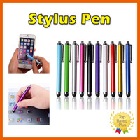 Wholesale Phone Tablet S Wholesale - Stylus Pen Capacitive Touch Screen For Universal Mobile Phone Tablet iPod iPad cellphone iPhone 5 SE 6 S 6plus MultiColors