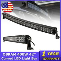 OSRAM 400W 42 polegadas Curved LED Light Bar 4x4 Combo Beam Led Work Light Trucks Wagon ATV SUV 4WD DC12V / 24V Offroad Led Light Bar luz ao ar livre